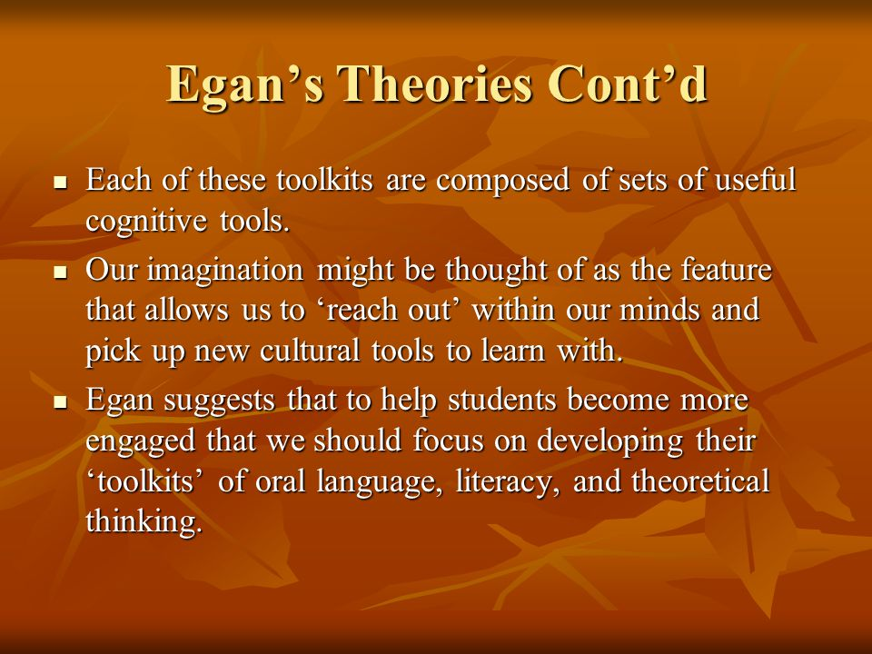 Romantic Understanding Here are some of the cognitive tools associated with literacy.