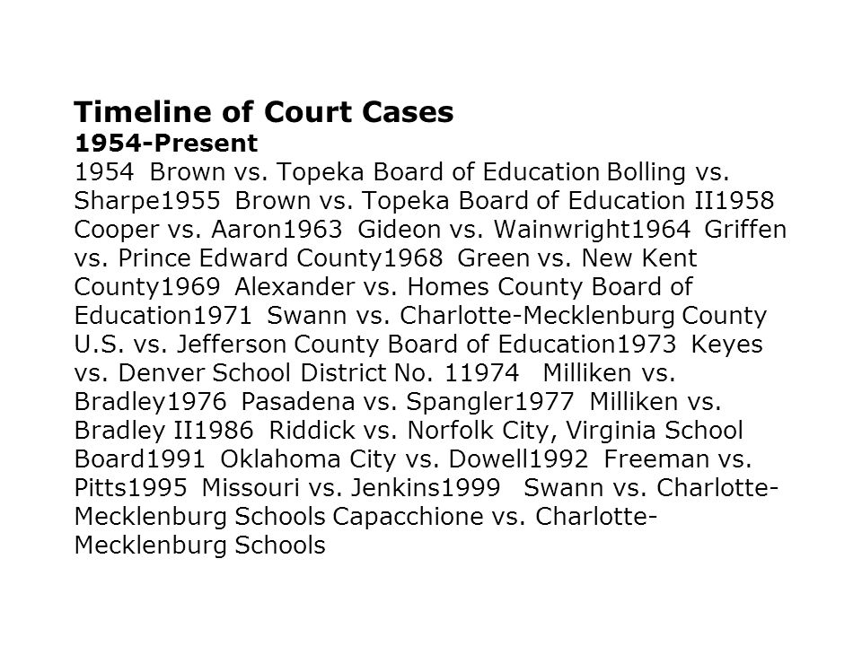 1973 – Attention Swifts to the North In Keyes v.Denver School District No.