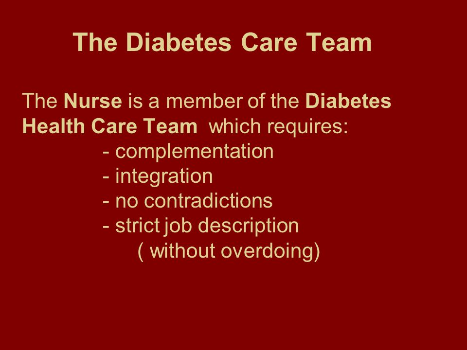A special Member The nurse is a privileged member of the team.