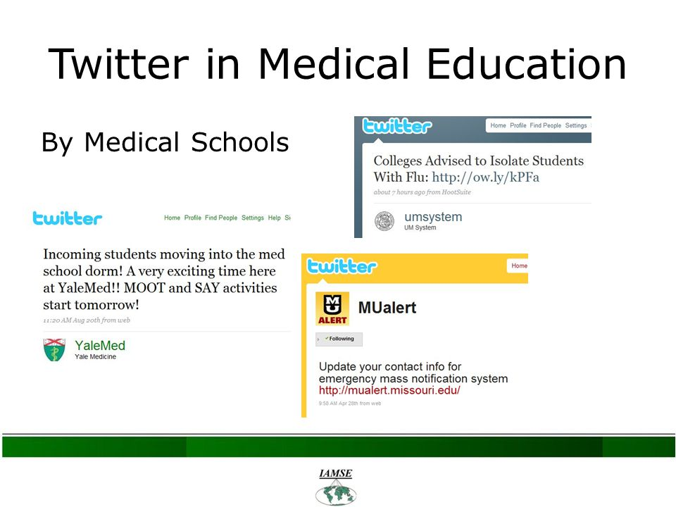 Twitter in Medical Education By Medical Schools