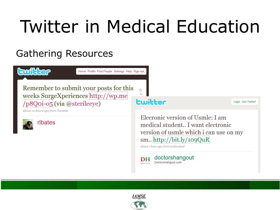 Twitter in Medical Education Gathering Resources
