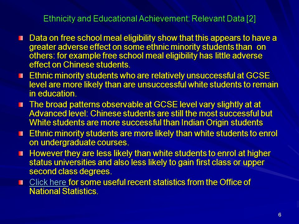educational achievement 1 educational experiences and achievements in regards to inequarity a case study of caribbean ethnic minority students.