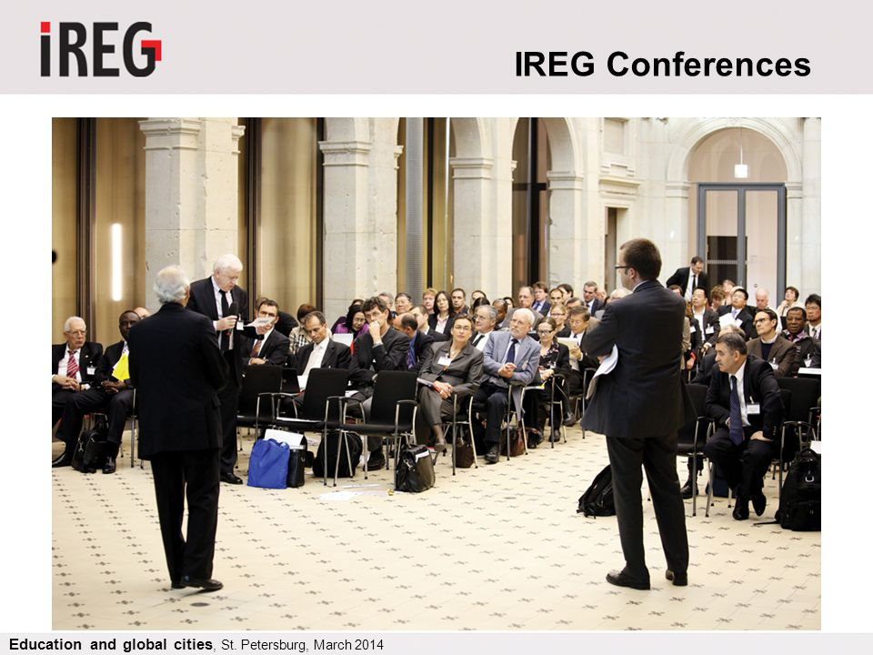 IREG Conferences Education and global cities, St. Petersburg, March 2014