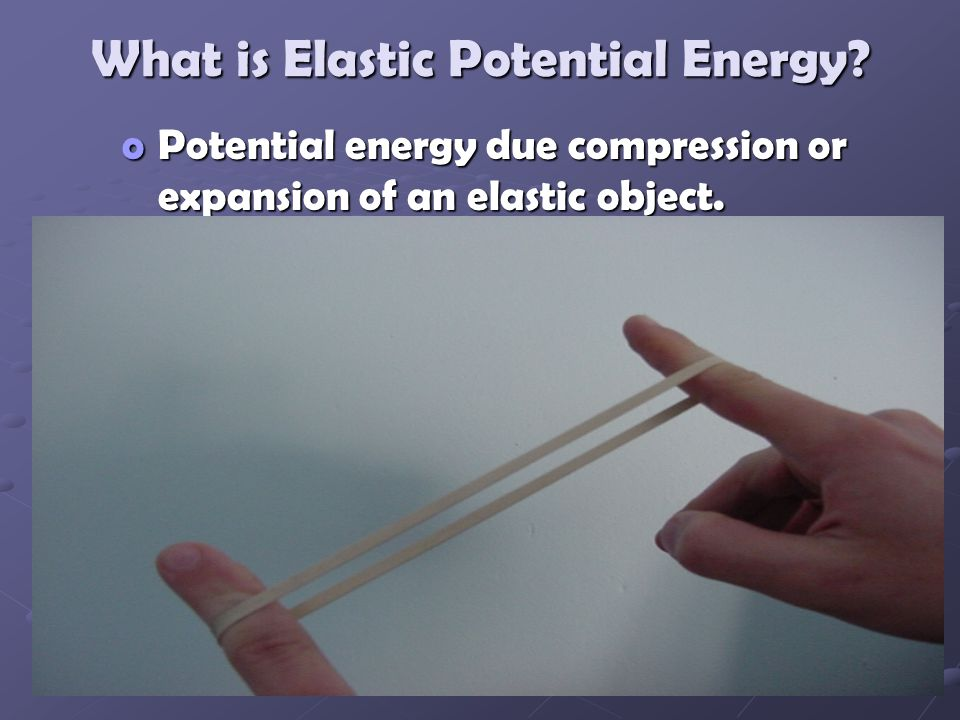 What is Elastic Potential Energy.