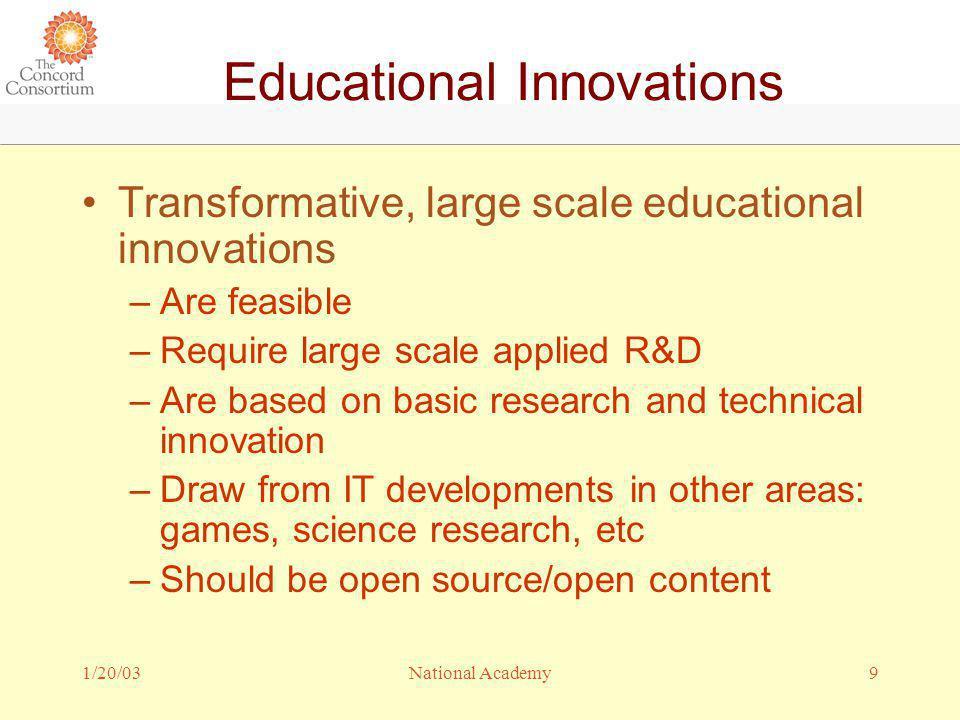 1/20/0310National Academy Who Creates Innovations.
