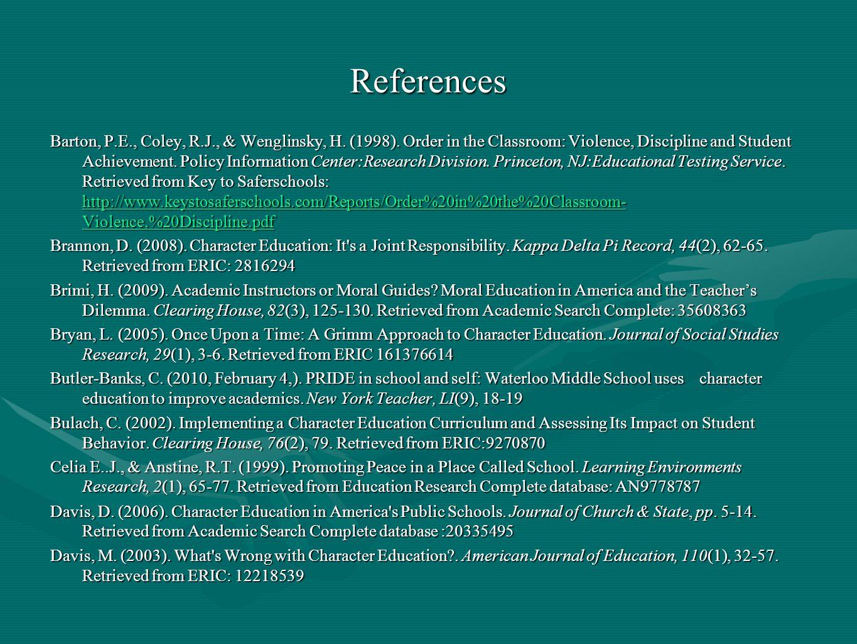 References Barton, P.E., Coley, R.J., & Wenglinsky, H.