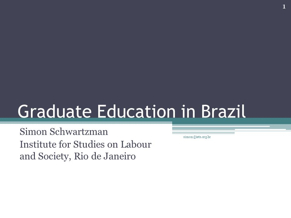 Conclusions The assumption that all Brazilian higher education should evolve towards the research university model did not consider the needs and characteristics of mass higher education; In spite of the quality control established by CAPES, there is a permanent problem of grade inflation, which is getting worse by globalization; It may have been better to deal with advanced research and doctoral education as a sector policy, and deal with higher education taking into account its need for differentiation simon@iets.org.br 22