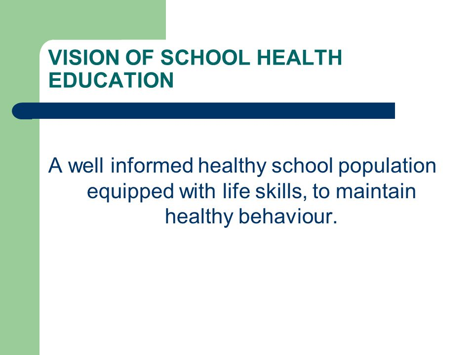 COMPONENT AREAS Skills-based health education Beneficiaries acquire knowledge and skills, through curricular and co-curricular activities to make informed choices for healthy living.