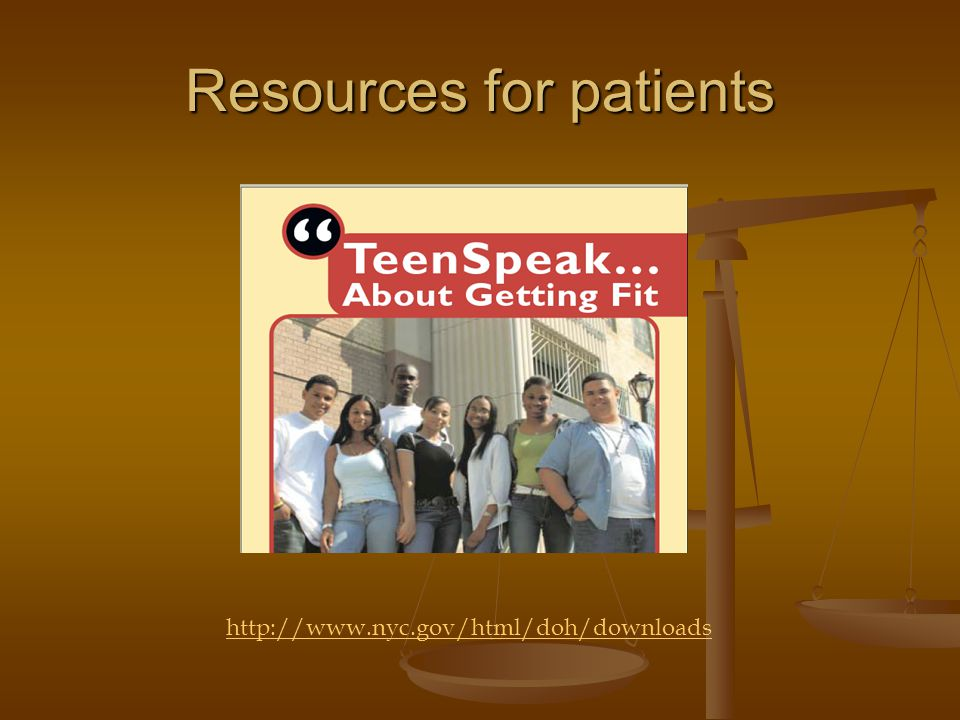 Resources for patients http://www.nyc.gov/html/doh/downloads