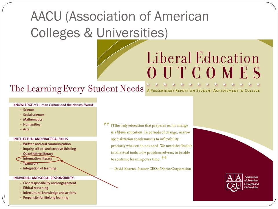 6 AACU (Association of American Colleges & Universities)
