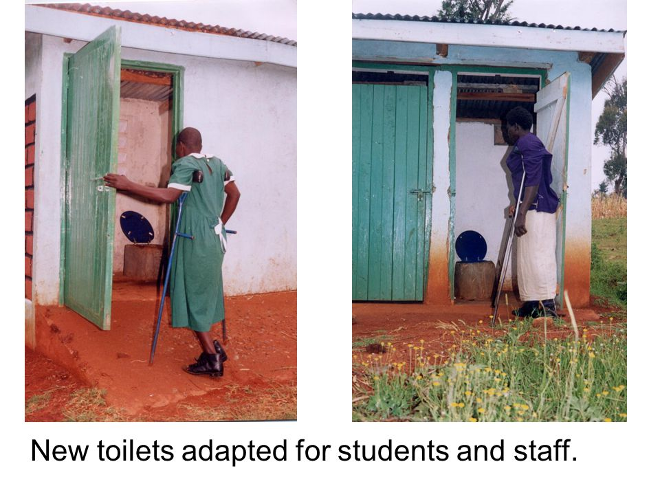 New toilets adapted for students and staff.