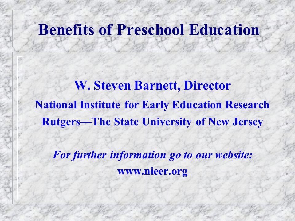 Preschool Attendance by Mothers Education