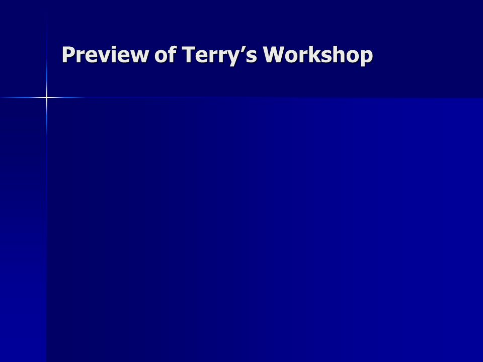 Preview of Terrys Workshop