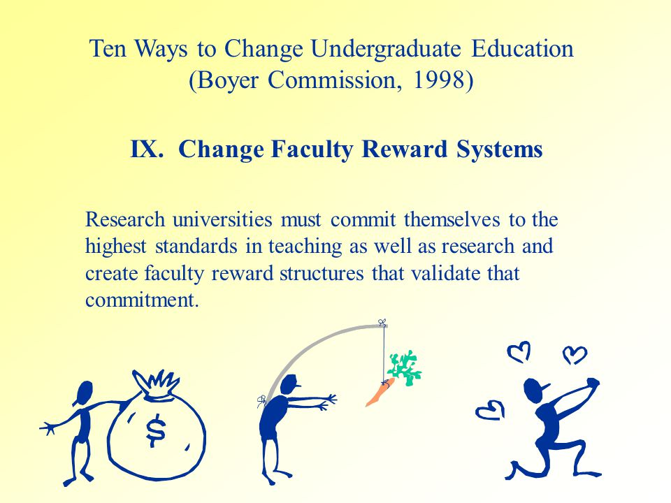 Research universities must commit themselves to the highest standards in teaching as well as research and create faculty reward structures that valida