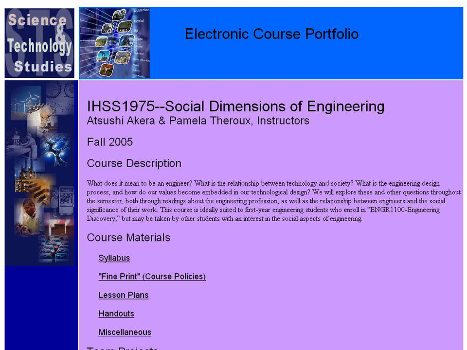 Course ePortfolio