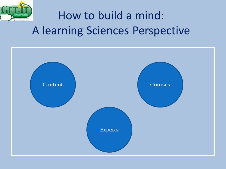 How to build a mind: A learning Sciences Perspective Experts CoursesContent