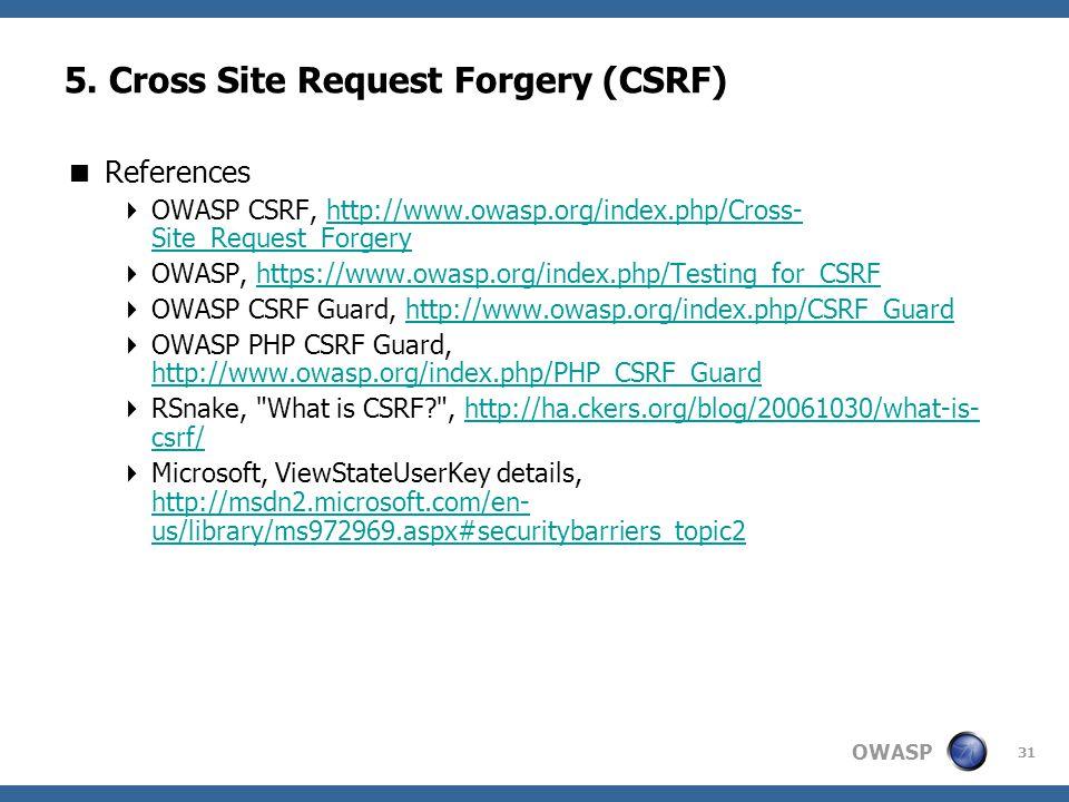 OWASP 31 5.