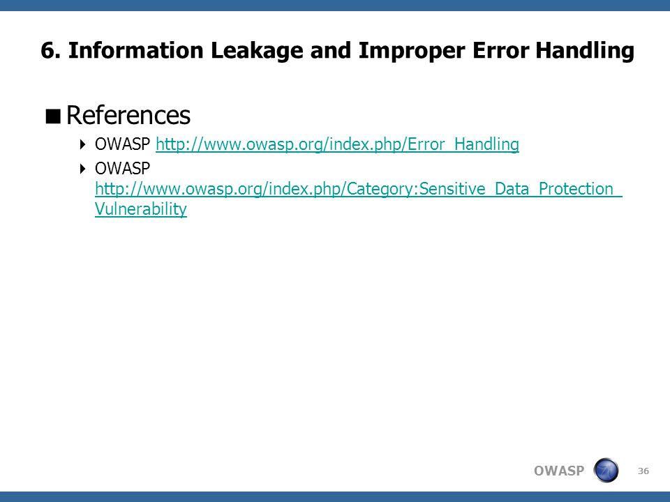 OWASP 36 6.