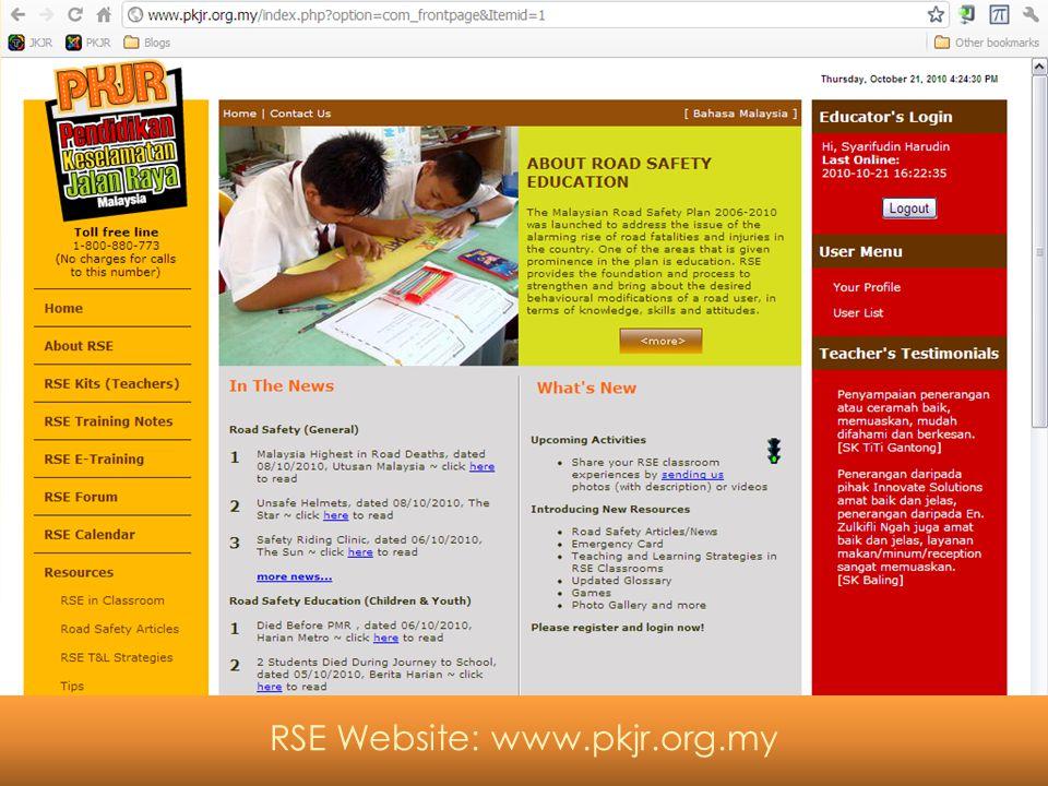 Bantuan Lain RSE Website: www.pkjr.org.my