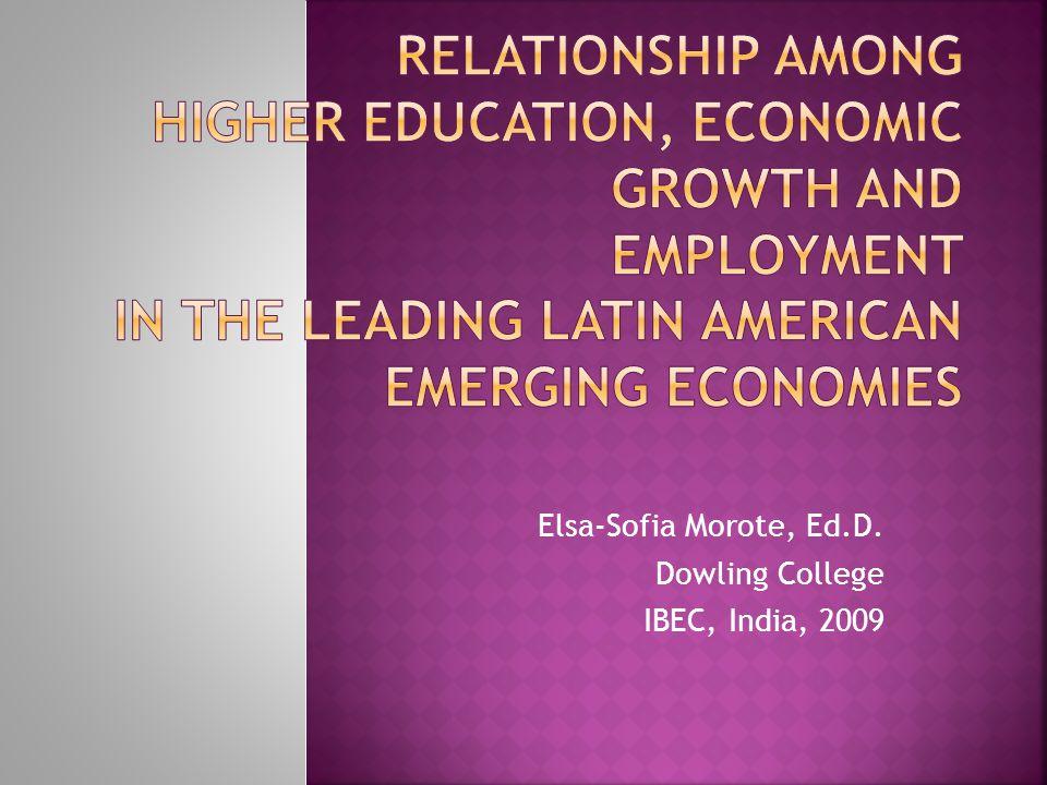 Elsa-Sofia Morote, Ed.D. Dowling College IBEC, India, 2009