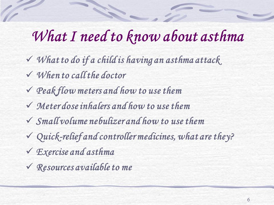 37 How do we know if the childs asthma is under control.
