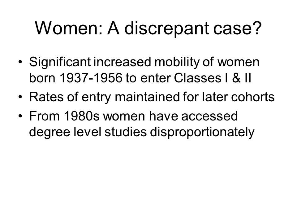 Women: A discrepant case.