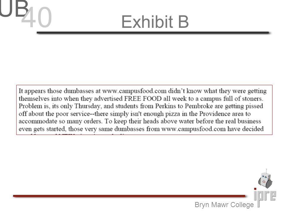 Exhibit B Bryn Mawr College