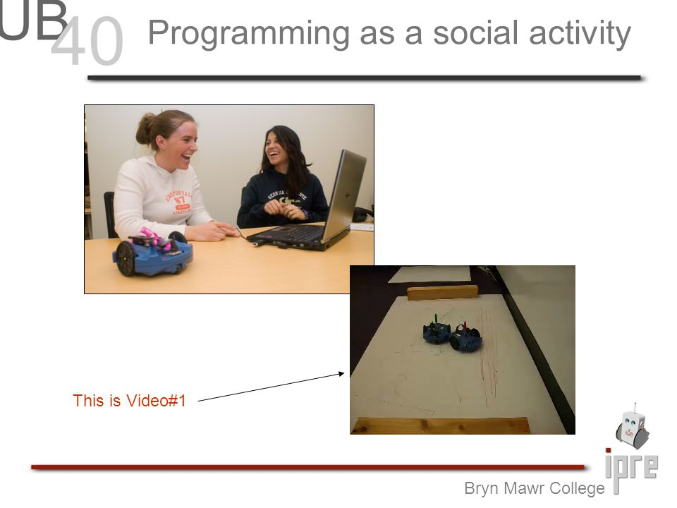 Programming as a social activity Bryn Mawr College This is Video#1