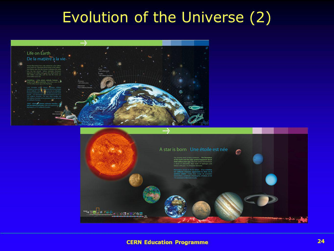 24 CERN Education Programme 24 Evolution of the Universe (2)