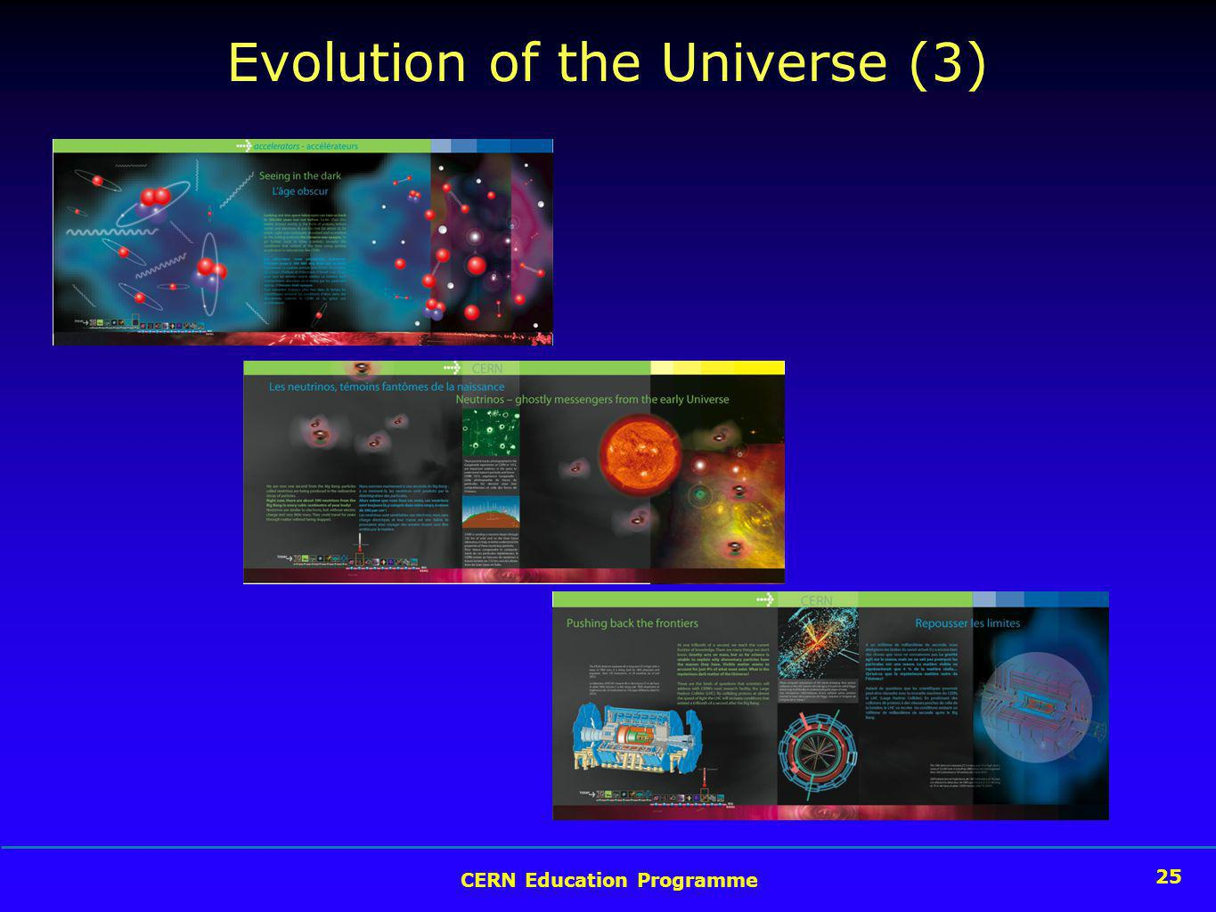 25 CERN Education Programme 25 Evolution of the Universe (3)