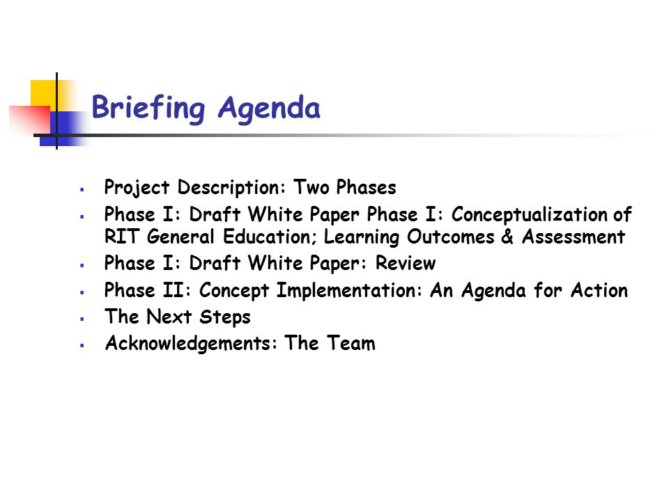 Project Description Phase I: … carried out largely at a philosophical level to articulate the desired educational outcomes.