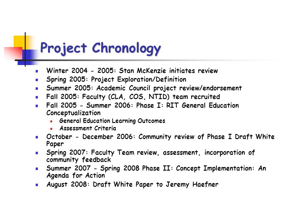 Phase I: The Key Questions What do we expect RIT graduates to know (knowledge base) and to be able to do (skill set).