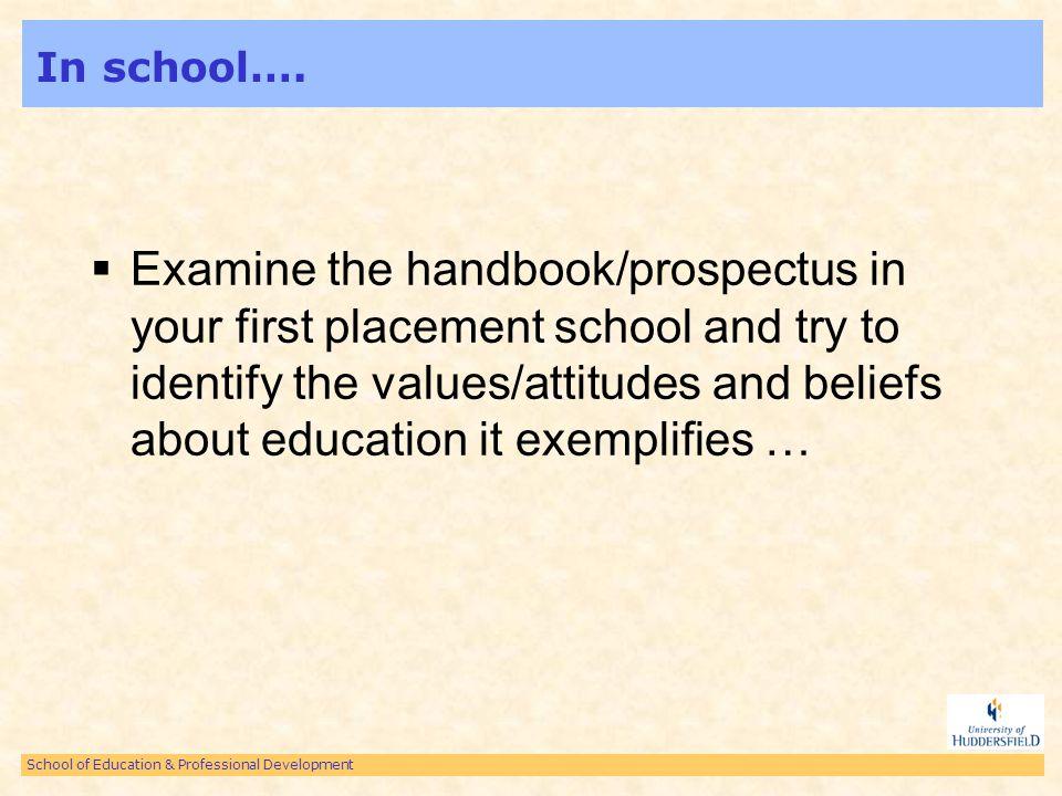 School of Education & Professional Development Readings….