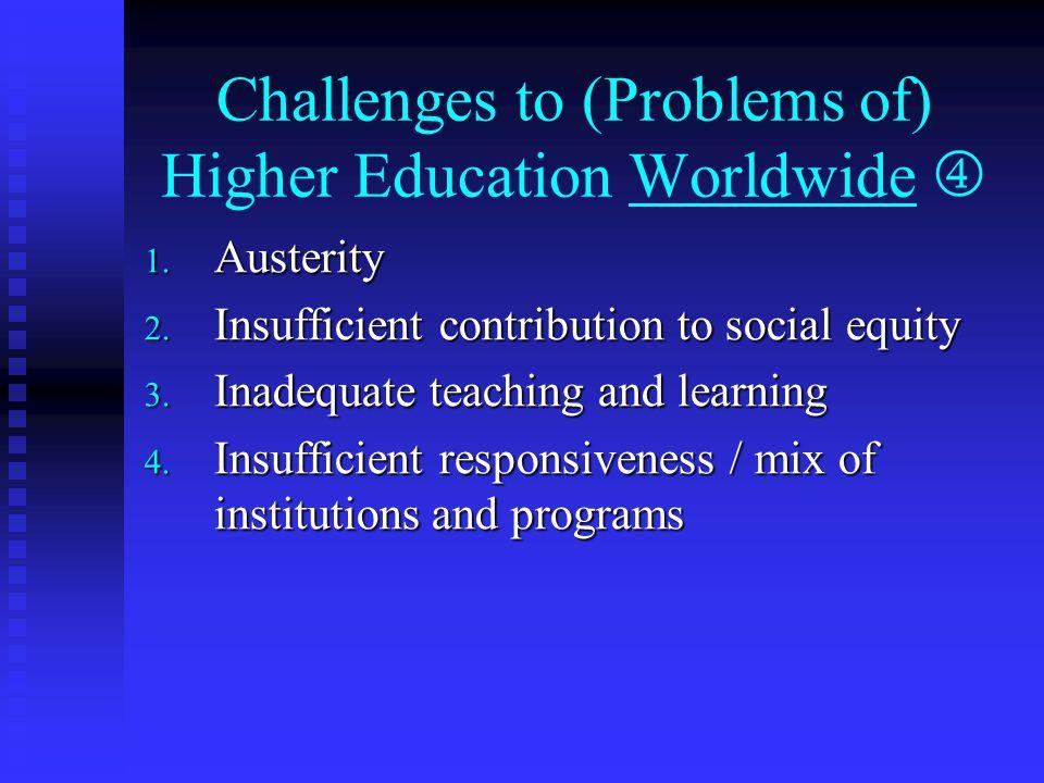 Challenges / Problems Worldwide … 1.