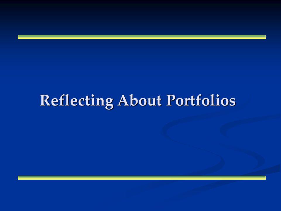 Reflecting About Portfolios