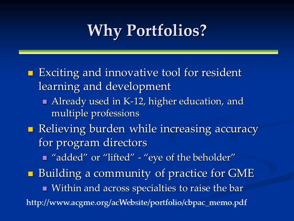 Why Portfolios.