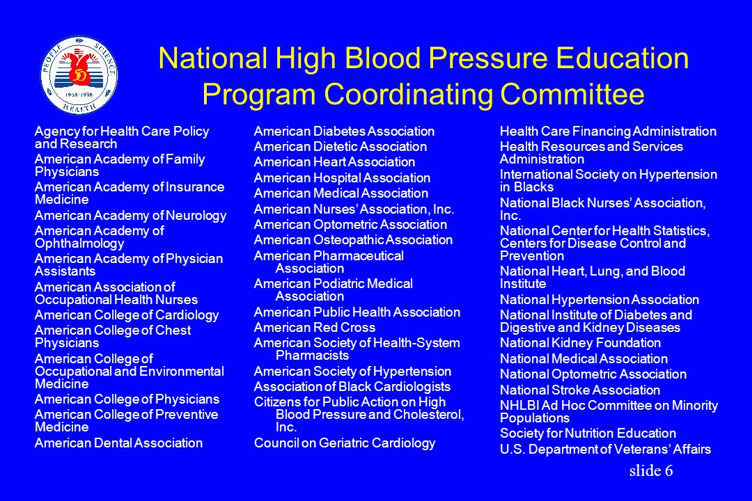 slide 7 JNC VI Table of Contents 1.Introduction 2.Blood Pressure Measurement and Clinical Evaluation 3.Prevention and Treatment of High Blood Pressure 4.Special Populations and Situations