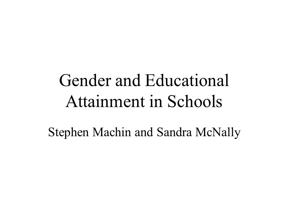 Conclusion Descriptive analysis shows girls doing better over time, and that the change in gender gaps largely driven by changes at secondary school level.