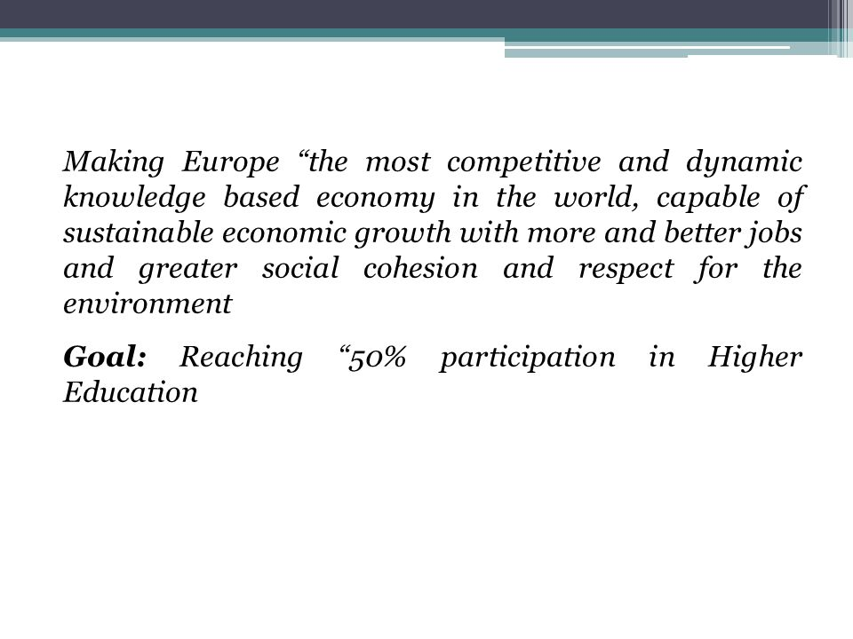 International Developments Shanghai ranking (2003) Emphasis of interdisciplinary research Funding of risky research proposals (in the US and late in the EU) Rising of private higher education in the US Distance Learning Satellite programs and Institutions