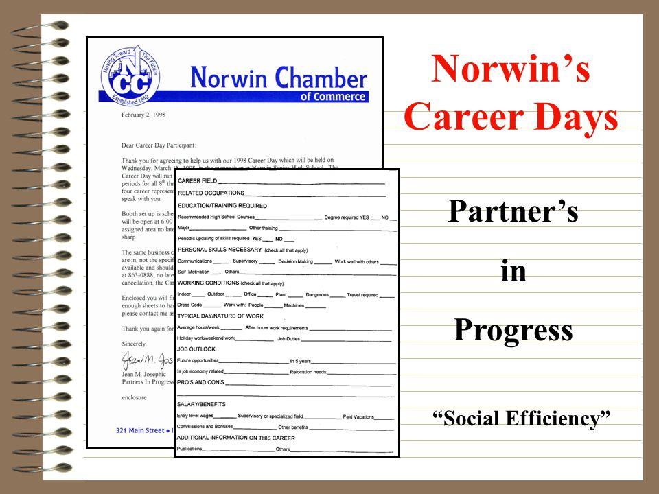 Norwins Career Days Partners in Progress Social Efficiency