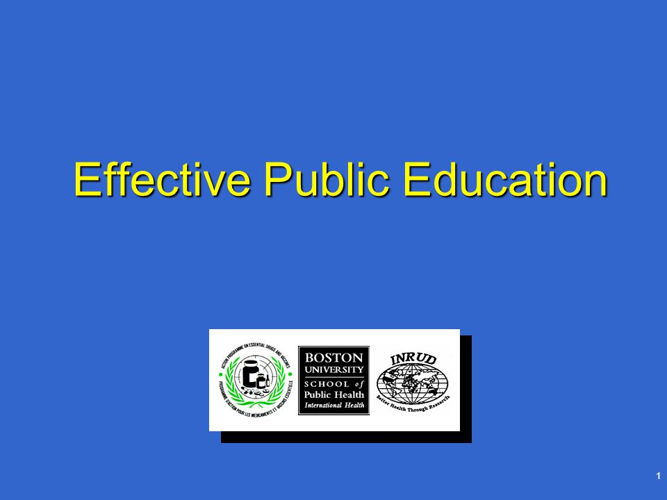 2 Effective Public Education: Objectives Understand role of public knowledge, attitudes and practice in use of medicinesUnderstand role of public knowledge, attitudes and practice in use of medicines Identify major drug use problems in your communityIdentify major drug use problems in your community Identify components of public education programIdentify components of public education program Identify various channels that exist to convey consumer educationIdentify various channels that exist to convey consumer education