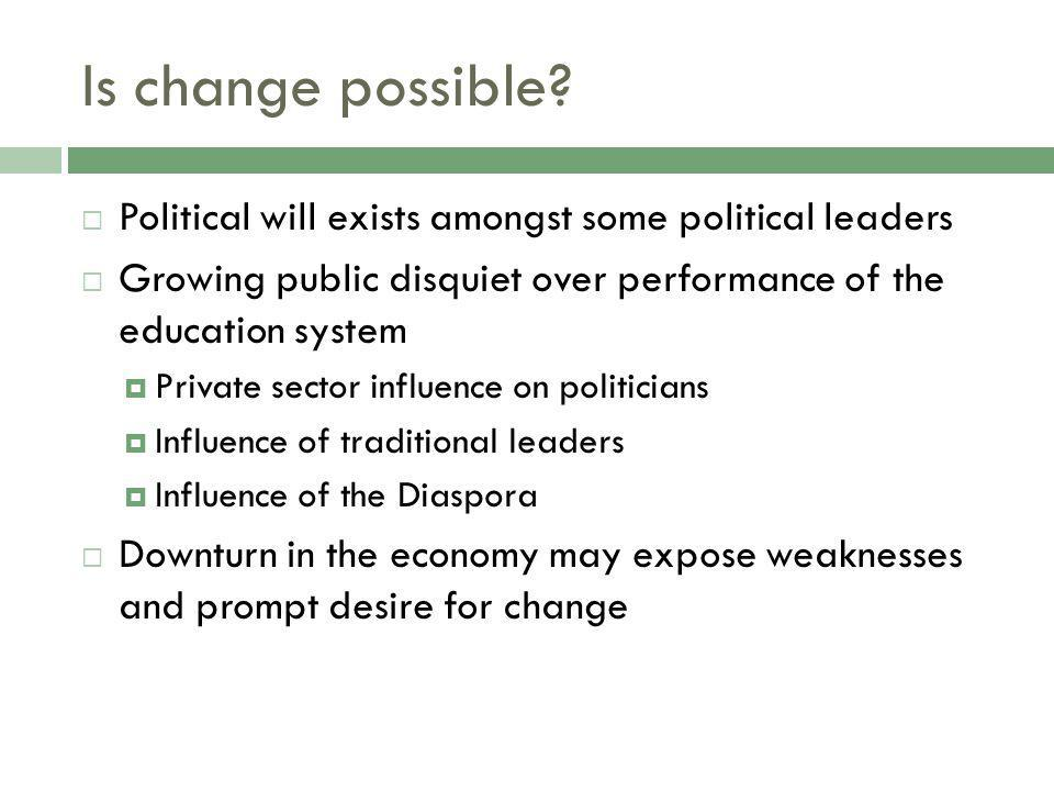 Is change possible.