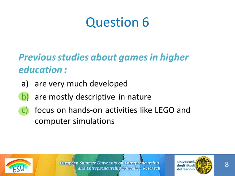 Games can be defined as : a)An artificial situation in which players are put into a position of conflict, one against the other or all together against other forces.