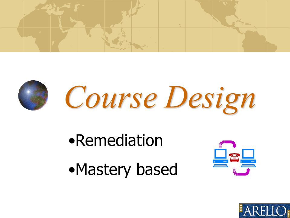 Course Design Remediation Mastery based