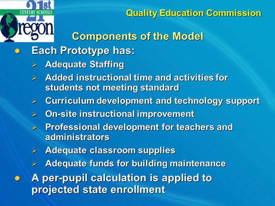 Commission Recommendations Provide adequate and stable funding for Oregons schools.