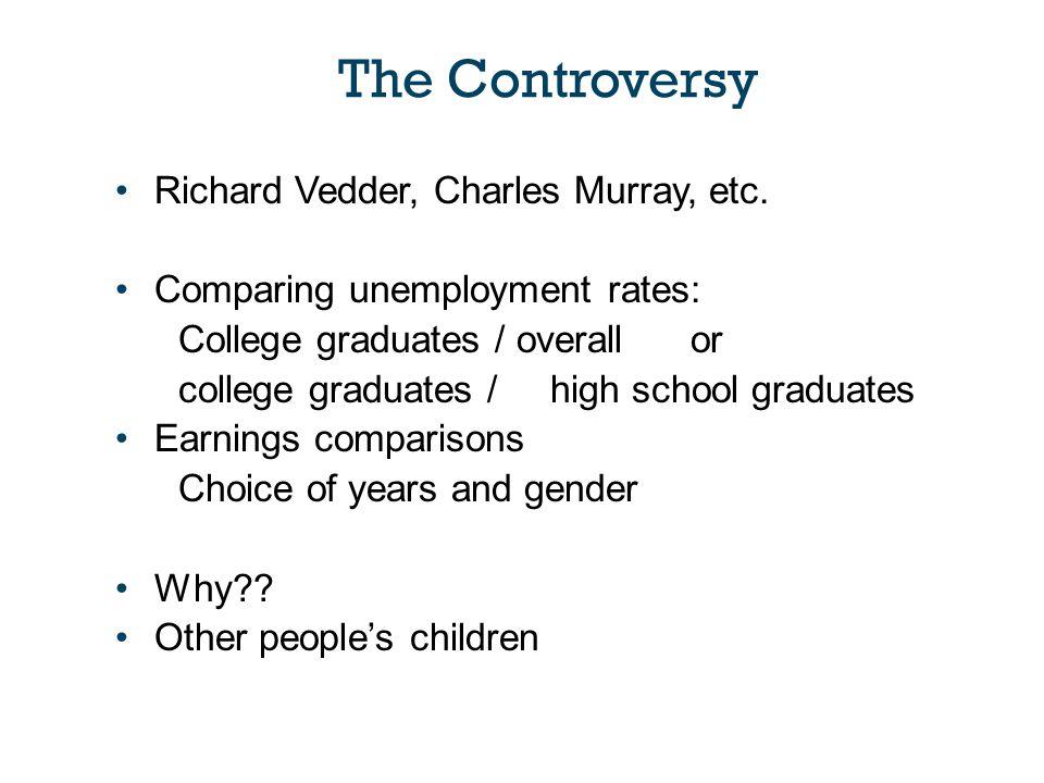 Richard Vedder, Charles Murray, etc.
