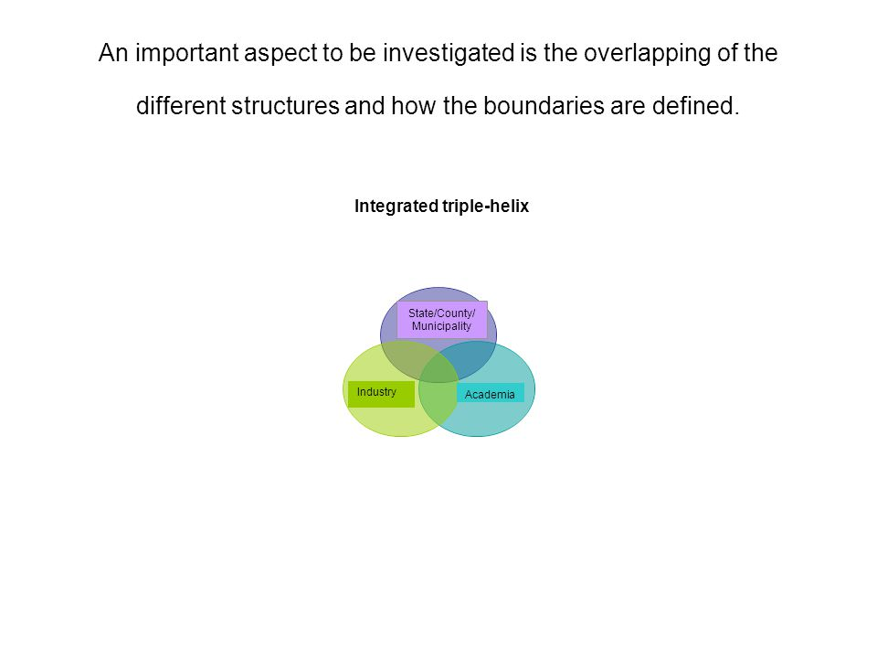 An important aspect to be investigated is the overlapping of the different structures and how the boundaries are defined.