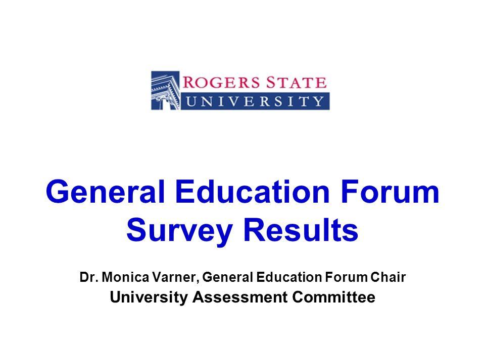 General Education Forum Survey Results Dr.