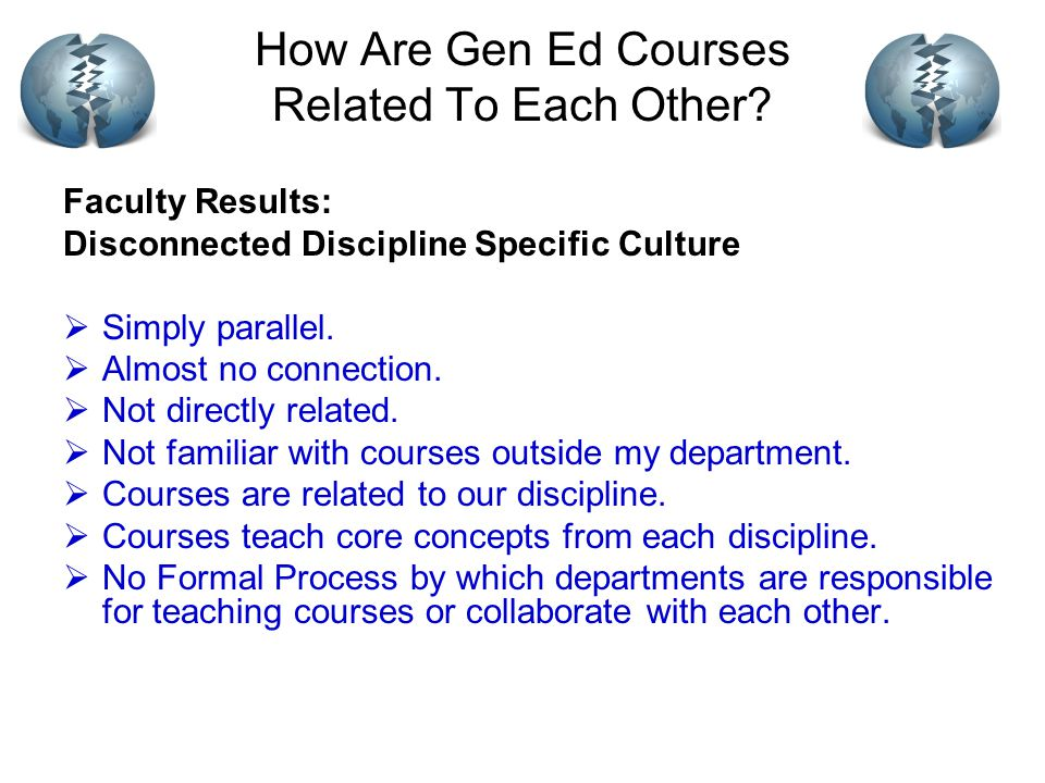 How Are Gen Ed Courses Related To Each Other.