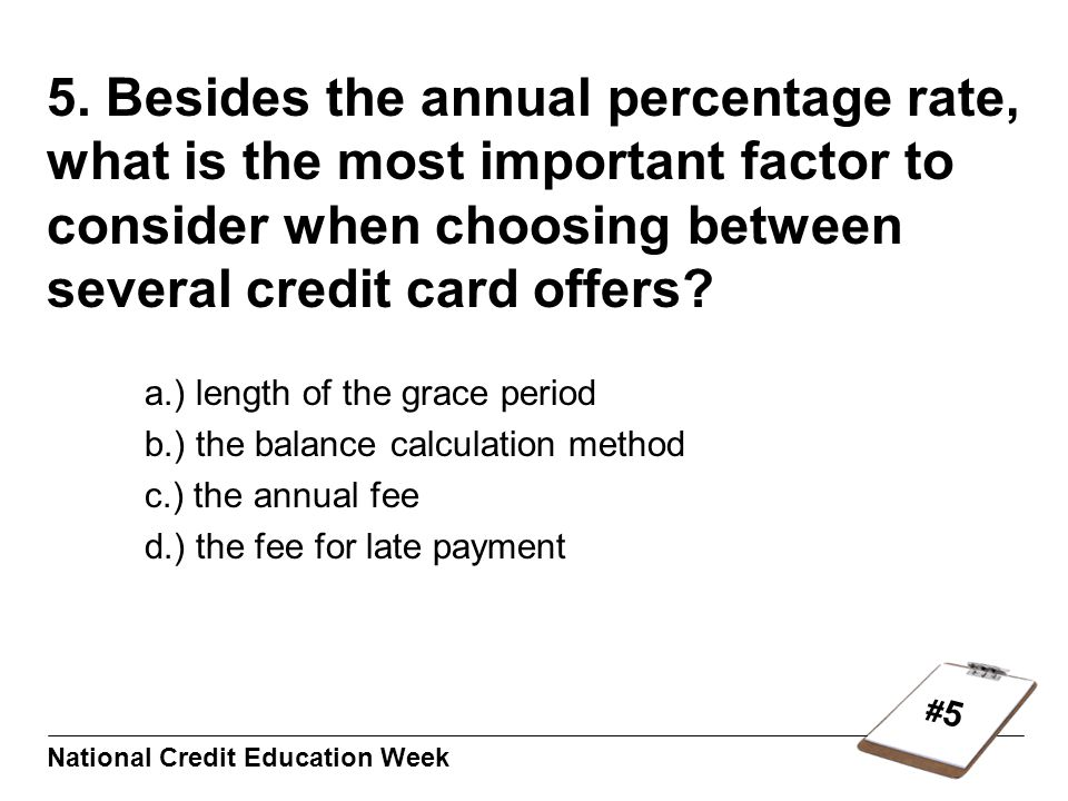#5#5 National Credit Education Week 5.